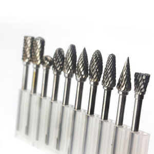 3mm shank 10pcs Double Cut Solid Carbide Rotary Burrs